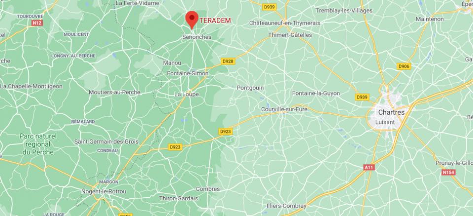 localisation de teradem sur google maps